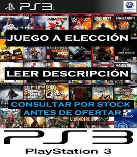 Fifa / Pes / Gta / Y Muchos + / Digital Ps3 Juego A Elección