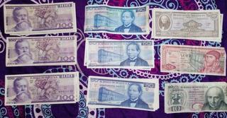 73 Billetes Antiguos 100,50,20,10 Pesos Perfecto Estado