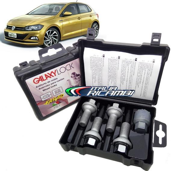 Kit Antifurto De Rodas Trava Farad Galaxylock Vw Novo Polo