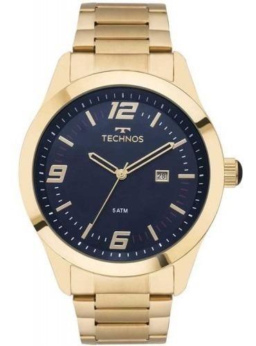 Relógio Technos Dourado Masculino Performance 2115mnz/4a