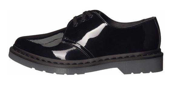 Zapatos Dr Martens 1461 Negro Charol Puntiagudo Bota Martins