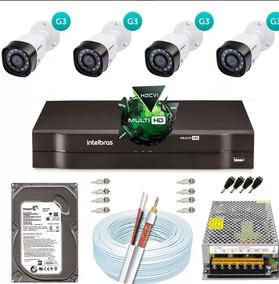 Kit Segurança 04 Câmeras Intelbras Mult Hd