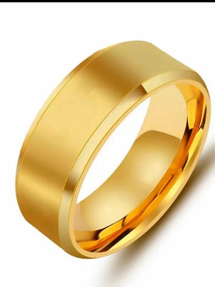 Anel De Prata Dourado
