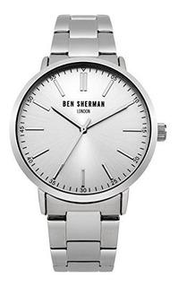 Reloj De Ra De Acero En Tono Plateado Para Hombre Ben Sherma
