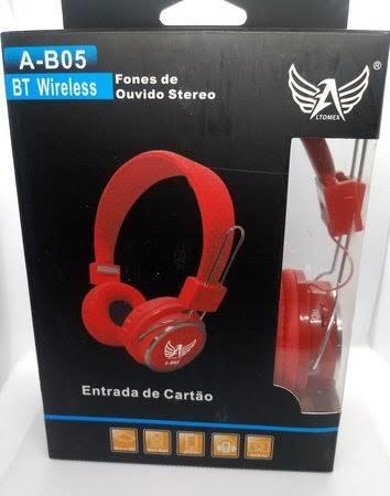Fone Ouvido Headphone Sem Fio Bluetooth Micro Sd Fm P2