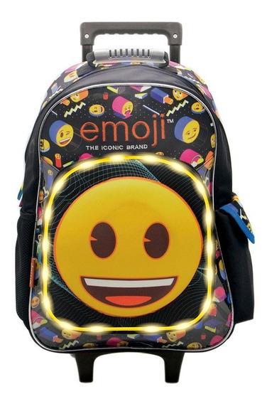 Mochila Con Carro Emoji C/luz Tt073 Licencia Original 18