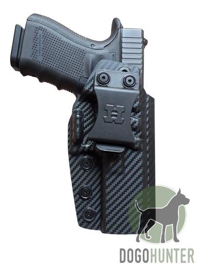 Funda Pistolera Fibra De Carbono Houston Para Glock 19