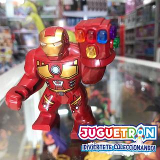 Minifigura Iron Man + Nano Guantelete Tipo Lego