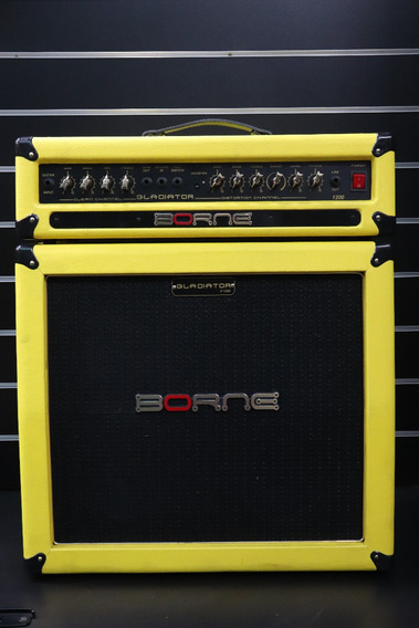 Caixa Borne P/guitarra Gladiator 1200 Amarela 100w