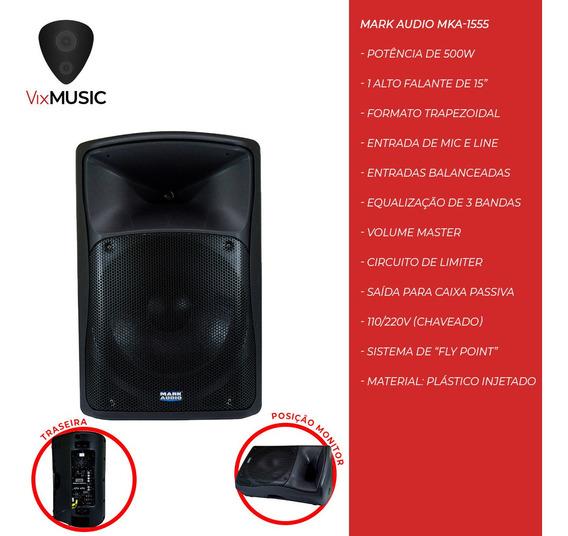 Caixa Amplificada Attack Mark Audio Mka1555a Mka 1555a 500wf