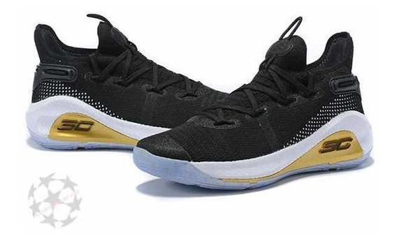 Stephen Curry 6 Black / White / Gold