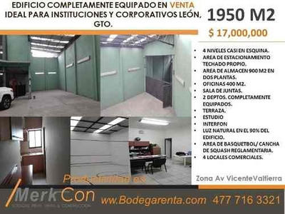 Edificio Completamente Equipado De 4 Niveles.leon, Gto. Mex.