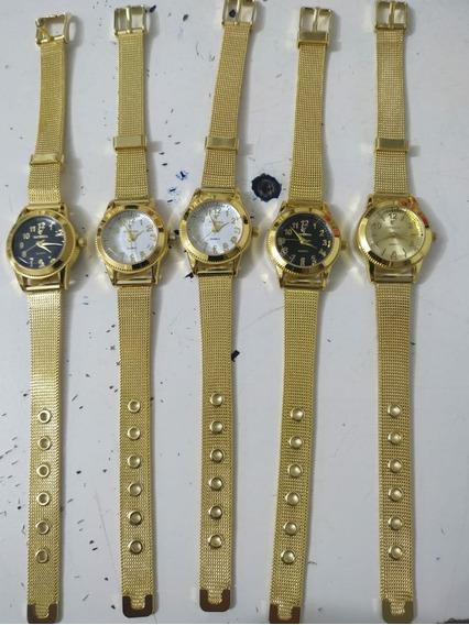 Kit C/05 Relógio Feminino Barato Oferta Exclusiva
