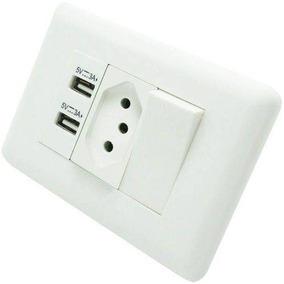 Tomada Interruptor Duplo C/2 Entrada Usb 110/220v Full 82336