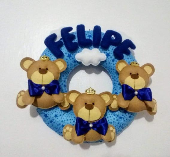 Enfeite De Porta Guirlanda Decorativa Ursinho