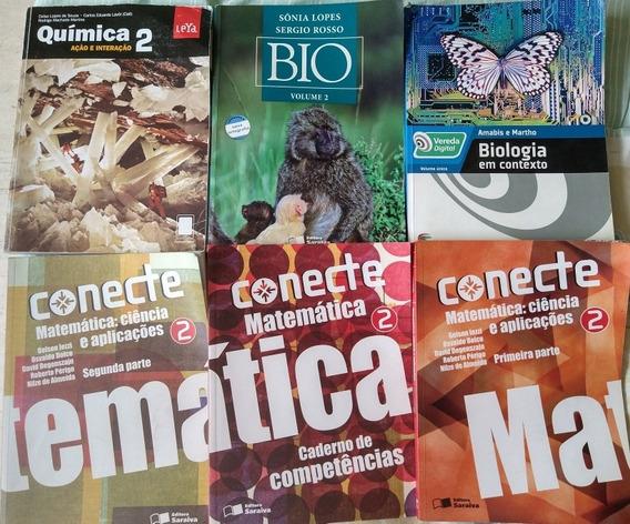 6 Livros Didáticos Ensino Médio Matemática, Química Biologia