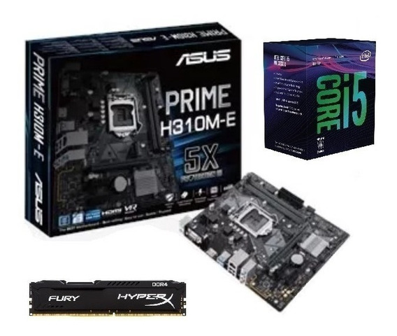 Kit 8ª Ger I5 8400 + Mb Asus H310m-e + 8gb 2400 Mhz Fury