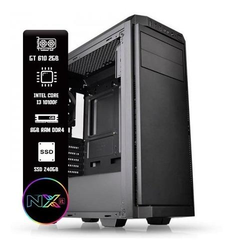 Imagem 1 de 1 de Computador - I3 10100f, Gtx 610 2gb, 8gb Ddr4, Ssd 240gb