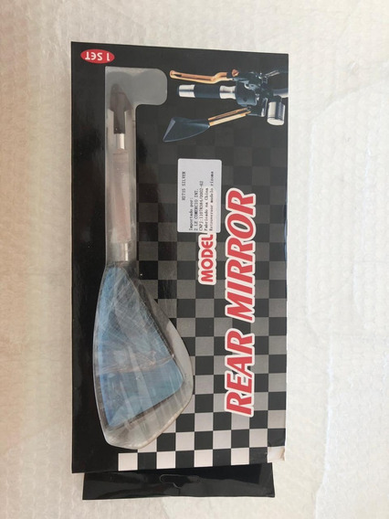 Retrovisor Moto Tipo Rizoma Esportivo Prata Universal Par