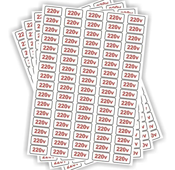 Etiquetas Adesivo De Voltagem 80 Unidades Tomada 220v