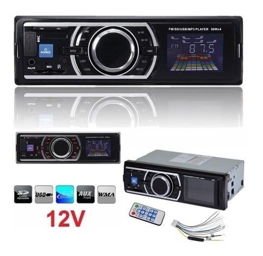 Radios Carro Sonido Usb Mp3 Sd Fm Aux Control Ecualizador