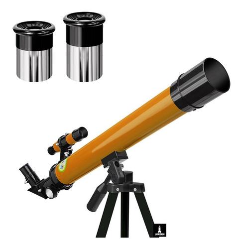 Telescopio Astronomico Terrestre Refrator Profissional Alumínio Lentes De Vidro Intercambiáveis De 50x E 100x