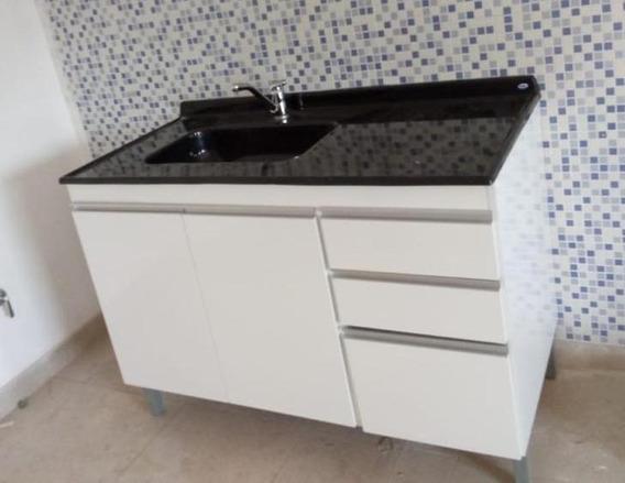 Bajomesada Para Cocina Mdf 1.20 X 0.60 Color Blanco