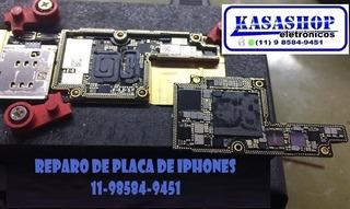 iPhone 7 Sem Áudio Reparo De Placa Kasashop Eletrônicos