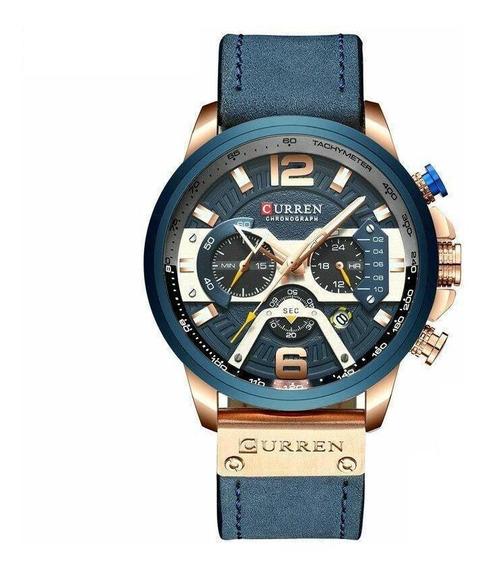 Relógio Masculino Curren De Luxo Militar Moda Quartzo