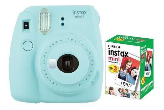 Câmera Fujifilm Instax Mini 9 Azul Aqua + 30 Fotos