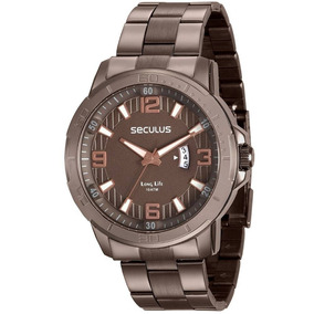 Relógio Seculus Masculino 28912gpsvma1 Marrom