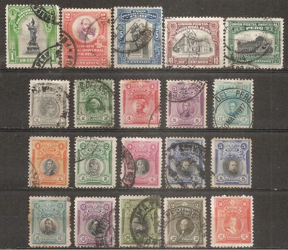 Peru Desde Año 1907 Buen Valor Antiguos X20 Todo Distinto