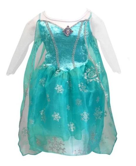 Vestido Princesa Disfraz Frozen, Precio De Promoción Oferta