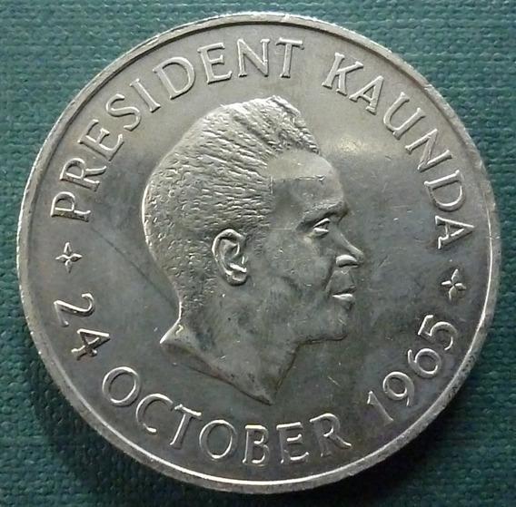 Zambia Moneda 5 Shillings 1965 Au Km 4 Presid Kaunda