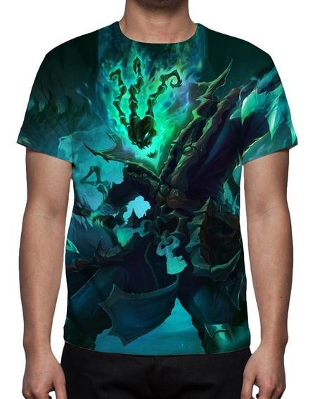 Camisa, Camiseta League Of Legends Thresh Guardião Correntes