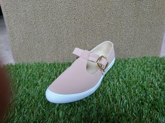 Calzado Zapato Tenis Dama Mujer Silkei Broche Moda