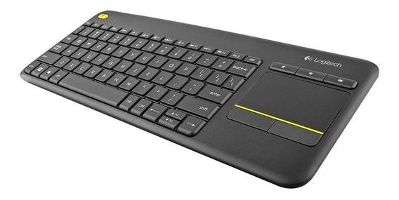 Teclado Sem Fio Com Touchpad Smart Tv K400 Plus Logitech