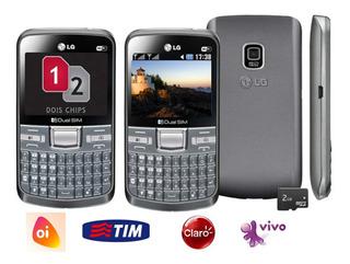 Celular Raro Lg 2chip,2g, Lacrado,entrada Antena,simples,wif