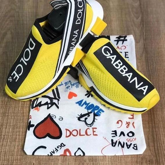 Sapato Dg Casual Amarelo Moda Verão 2020