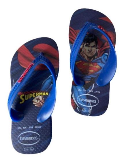 Chinelo Havaianas Infantil Superman Super Homem
