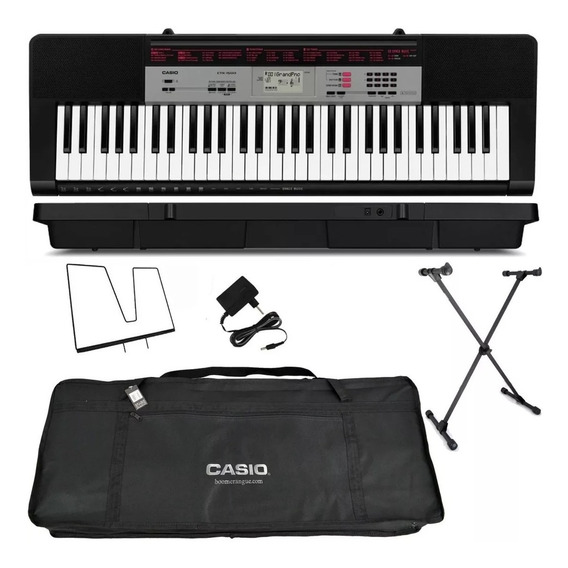 Kit Teclado Musical 61 Teclas Ctk-1500 Casio Cotar Envio