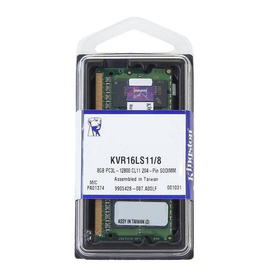 Memoria Notebook 8gb Ddr3 L 1600 Kingston 1.35 Low Voltage