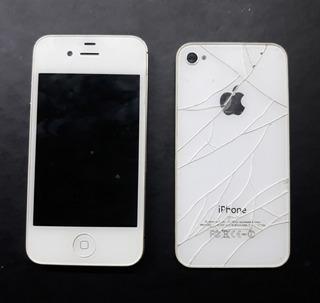 Smartphone iPhone 4s - Branco - Retirada De Peças - Completo