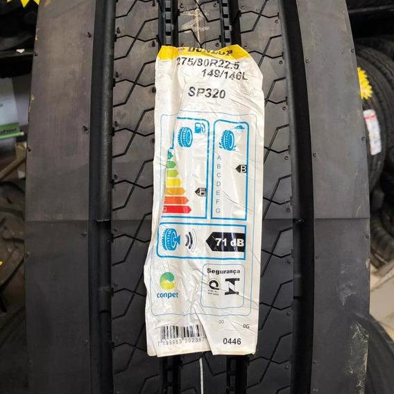 Kit 2 Pneu 275/80 R 22,5 Dunlop Sp 320 16 Lonas
