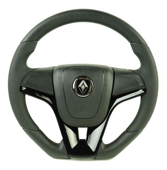 Volante Esportivo Camaro Do Renault Clio Logan Sandero Preto