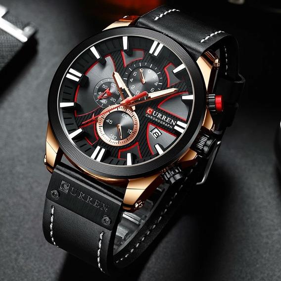 Relógio Masculino Curren 8346 Esportivo Black Cronógrafo