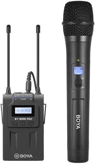 Microfone Sem Fio Boya By-wm8 Pro K3 Uhf Receptor+microfone