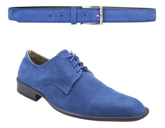 Zapatos Hombre Con Cinto Moda Eco Cuero Importados De Vestir