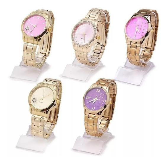 Promoção Kit Com 10 Relógios Feminino Atacado Lote Barato !