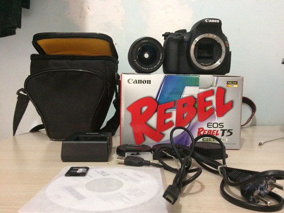 Câmera Cânon Eos Rabel T5 Lente 18-55mm